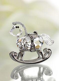 Swarovski Moments Rocking Horse, Rhodium - Crystal Classics
