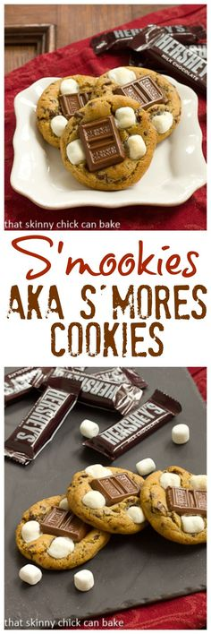 S'mookies | All the addictive flavors of a campfire S'mores treat in one blissful cookie recipe! @lizzydo