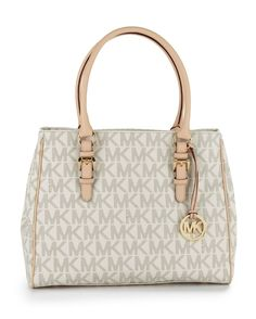 MICHAEL Michael Kors Medium Jet Set Work Tote - Vanilla