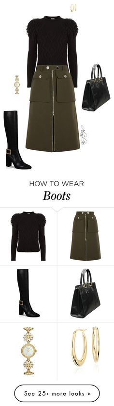 """""""Black Boots"""" by ahand-98 on Polyvore featuring Roger Vivier, Temperley London, Alexander McQueen, Kate Spade, Blue Nile and Boots"""