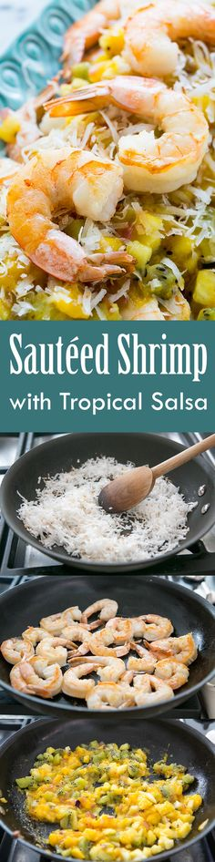 Sautéed Shrimp with Warm Tropical Fruit Salsa Recipe | SimplyRecipes ...