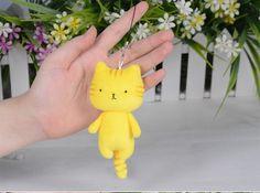 Anime Love Live! Rin Hoshizora Cat Plush Doll Cell Phone Strap Bag Hanging #Unbranded