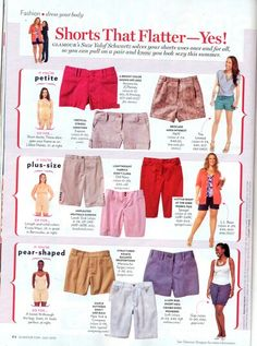 Shorts for common body types.