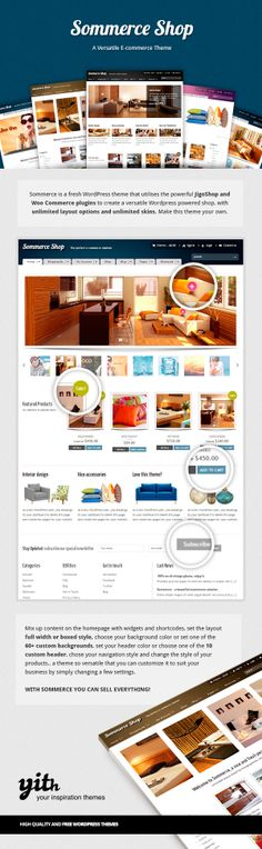 Sommerce Shop - A Versatile E-commerce Theme by Your Inspiration , via Behance