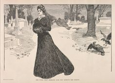 """Charles Dana Gibson Illustration, """"She Finds That Exercise Does Not Improve Her Spirits"""", 1900"""