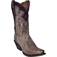 Dan Post Women's Star and Moon Snip Toe Western Boots