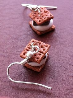 Perfect Polymer Clay S'more Earrings