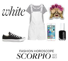 """""""Scorpio"""" by carleelingard on Polyvore featuring H&M, Madewell, Converse, Apple and Essie"""