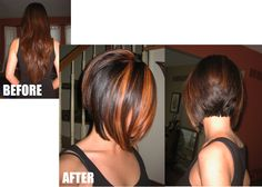 Inverted Bob with chunky highlights. Stylist: Bridget @ Salon Scappare