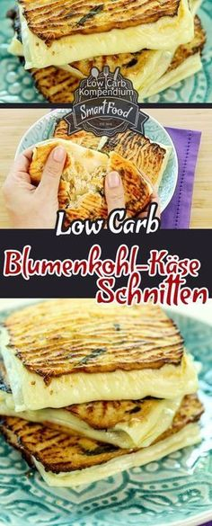 Low-Carb Blumenkohl-Käse-Schnitte - Düşük karbonhidrat yemekleri - Las recetas más prácticas y fáciles Low Carb Keto, Low Carb Recipes, Easy Recipes, Law Carb, Quick Vegetarian Meals, Vegan Meals, Cauliflower Cheese, Tasty, Yummy Food