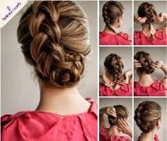 """Résultat de recherche d'images pour """"coiffures boucles lissées pour cérémonie"""""""