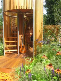 how cool is this?    Teenage Garden Sanctuary made with Kee Klamp Fittings