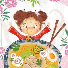 Been craving noodles for the past month sigh. Here's a sneak peek of my new picture book! Inês e a idade dos porquês - illustrated by Sofia Cardoso