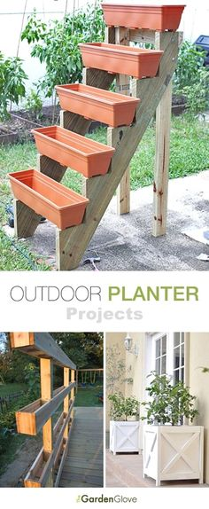 Garden Diy Outdoor Planter Projects Tons of ideas & Tutorials!Garden Diy Outdoor Planter Projects Tons of ideas & Tutorials! Outdoor Planters, Garden Planters, Garden Beds, Outdoor Gardens, Home And Garden, Diy Planters, Outdoor Pergola, Garden Art, Modern Pergola
