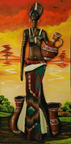 #Tipo:SouMaisEu African Art Paintings, African Artwork, Cuban Art, Art Africain, Africa Art, Black Artwork, African American Art, Black Women Art, Tribal Art