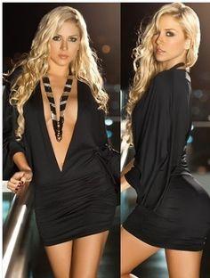 55de93500 Deep V dress skirt summer fashion European and American stars export sexy  lingerie dress uniforms nightclub