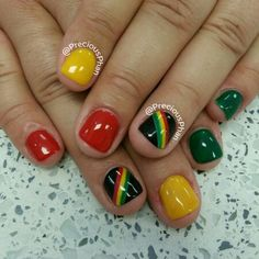 Reggae nails. Bob Marley