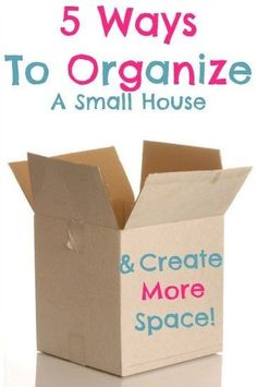 Learn how to organize your house, even if you don't have much space to spare!