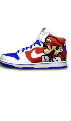buy popular cc13d 96e9c Old School Mario Nike Dunks  Sick!