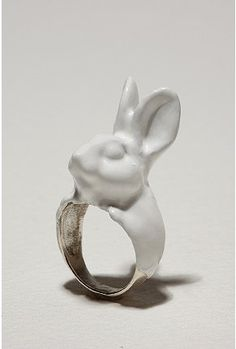 Calourette Rabbit Ring by Urban Outfitters