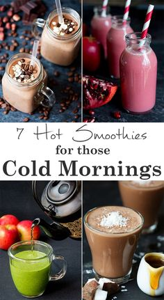 Healthy hot smoothie recipes to keep you going on those cold winter mornings. Healthy hot smoothie recipes to keep you going on those cold winter mornings. Smoothie Fruit, Breakfast Smoothies, Smoothie Drinks, Healthy Smoothies, Healthy Drinks, Vegetarian Smoothies, Simple Smoothies, Healthy Fit, Breakfast Healthy