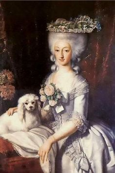 Princess Maria Anna of Savoy by unknown artist, ca. 1777, grand daughter of Philip V of Spain. Maria Anna was herself married to her uncle, Prince Benedetto of Savoy, Duke of Chablais, son of Charles Emmanuel III of Sardinia and his last wife, the French Elisabeth Therese of Lorraine. The marriage was happy but resulted in no children.  Aunt of Empress Maria Anna of Austria, and had rather similar life.