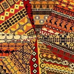 Collage de l'�chantillon avec des motifs ethniques, abstrait photo