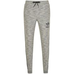 ADIDAS ORIGINALS Slim Fit Jogging Bottoms ($62) ❤ liked on Polyvore featuring activewear, activewear pants, logo sportswear and adidas originals