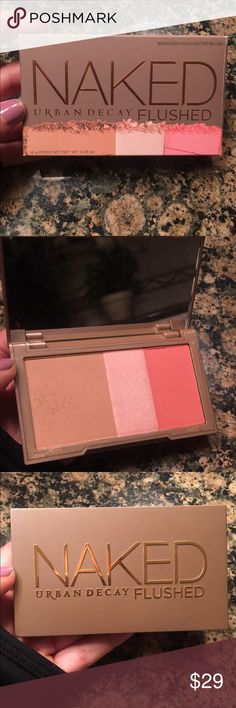 Naked flushed palette Bronzer, blush and highlighter Urban Decay Makeup Face Powder