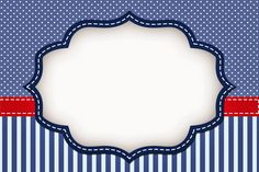 Blue Stripes and White Polka Dots: Free Printable Invitations. Free Printable Invitations, Printable Labels, Printable Paper, Party Printables, Free Printables, Contour Images, Dots Free, Boarders And Frames, Nautical Party