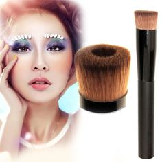 Hot Pro Face Concave Liquid Powder Foundation Brush Cosmetic Makeup Tool Beauty Cosmetics