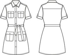 Technical Illustrations, Fashion Drawing Tutorial, Tech Pack, Fashion Design Sketches, Shirt Blouses, Shirts, Technical Drawing, Coreldraw, Msgm