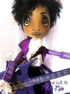 Purple Rain Urchin Prince art doll by Vicki @ Lilliput Loft