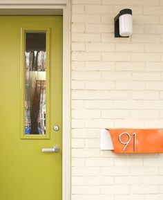 Curb Appeal: Modern Front Doors - House Numbers-mailbox