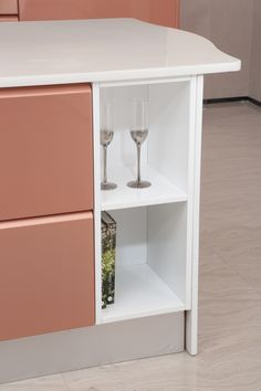 2014 OPPEIN Island Kitchen Cabinets Lacquer Finish Guangzhou Export