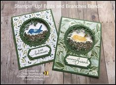 Stampin' Up! Birds and Branches and Lovely Labels Pick a Punch Bundles Video Tutorial – Cindy Lee Bee Designs Stampin Up Christmas, Christmas Holiday, Holiday Cards, Bird On Branch, Stampin Up Catalog, Bee Design, Cards For Friends, Friend Cards, Stamping Up Cards