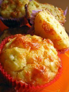 Muffins de puerro y queso cheddar