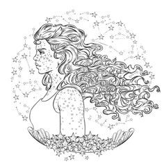 Scarlet coloring page from the lunar chronicles coloring book ilustrated by kathryn gee