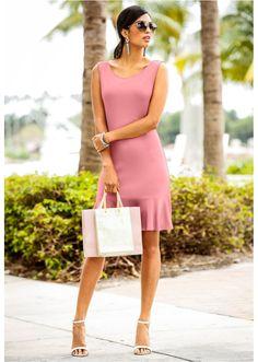 Sukienka z falbaną Atrakcyjna sukienka • 89.99 zł • bonprix