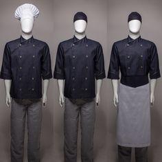 Dolman Jeans Gourmet com vivo e botões cinza chumbo.