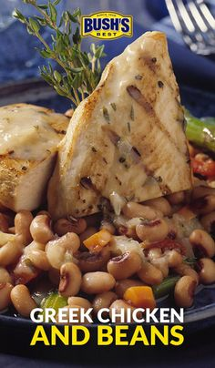 Bushs beans bushsbeans on pinterest shake things up at the dinner table with an easy greek chicken recipe combining bushs navy beans and blackeye peas with onion carrots celery garlic forumfinder Gallery