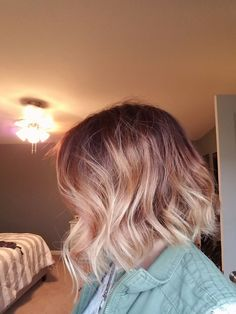 Brown with Ash Blonde with Rose Gold color Melt -Jatas hair designs Indianapolis
