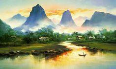 В роли утренней картинки послужат сегодня картины замечательного китайского художника. Удивительно светлые, воздушные, порой почти абстрактные пейзажи. Увы, в…