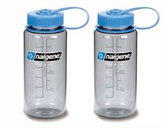 Nalgene Wide Mouth Bottle 16oz Gray Bottle with Light Blue Cap Set of 2 >>> More info could be found at the image url.(This is an Amazon affiliate link and I receive a commission for the sales)