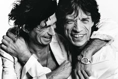 Keith Richards and Mike Jagger - Private View by Mario Testino