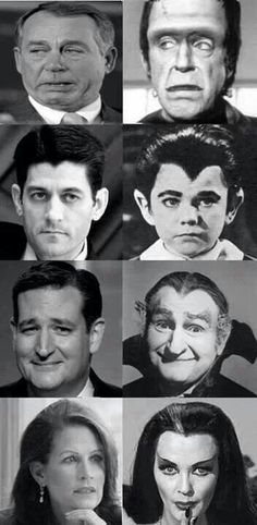 Which side is the Munsters and which side is the Monsters? Too bad; it's an insult to the Munsters.
