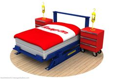 Hydraulic Car Lift bed by Dave's Geeky Ideas