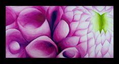 cropped watercolour flowers- Georgia O'Keefe inspiration- Grade 9