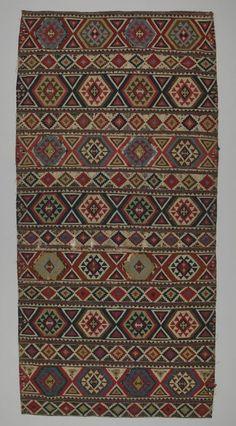 rug kilim Shirvan district  DATE:1850 - 1860 DIMENSIONS:L 241 cm x W 120 cm