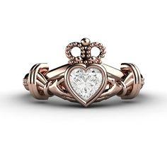 Claddagh Etsy listing at https://www.etsy.com/listing/186344248/diamond-claddagh-ring-irish-engagement